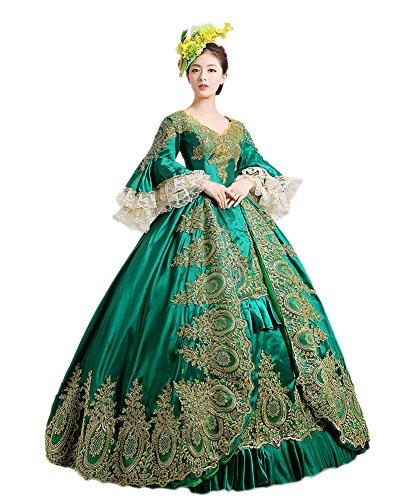 ef7e67536bf Zukzi Women s Prom Gothic Victorian Fancy Palace Masquerade Dresses. Waist   ...